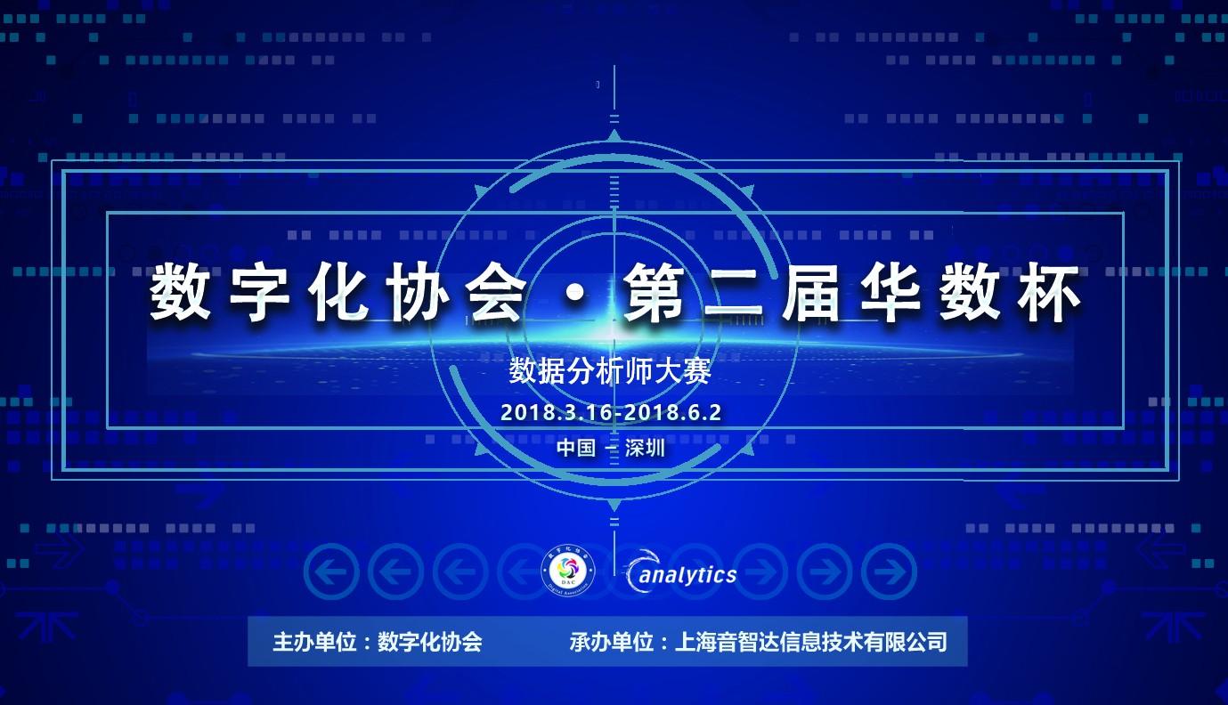 数字化协会 第二届华数杯数据分析师大赛